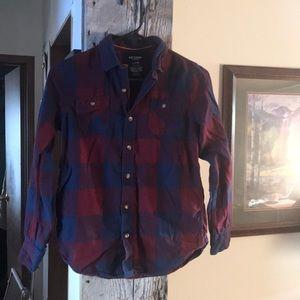 Arizona Boys Plaid Flannel Shirt 14/16